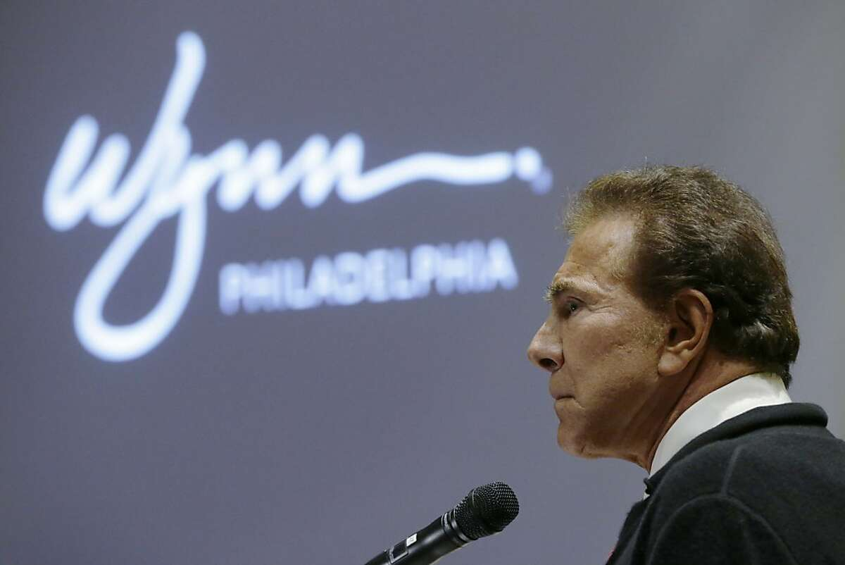 FILE - In the Feb. 12, 2013, file photo casino mogul Steve Wynn addresses the Pennsylvania Gaming Control Board in Philadelphia. The University of Iowa announced Thursday, Aug. 8, 2013, Wynn will donate $25 million to the university to accelerate the search for cures to rare eye diseases such as the one that hampers his own vision. (AP Photo/Matt Rourke)