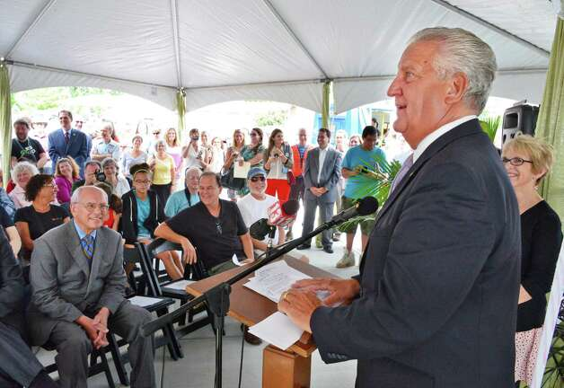 Albany Mayor Jerry Jennings speaks Thursday, Aug. 8, 2013, during the grand opening ceremonies for Honest Weight Co-Op's new store on Watervliet Ave. in Albany, NY.  (John Carl D'Annibale / Times Union) Photo: John Carl D'Annibale / 00023450A