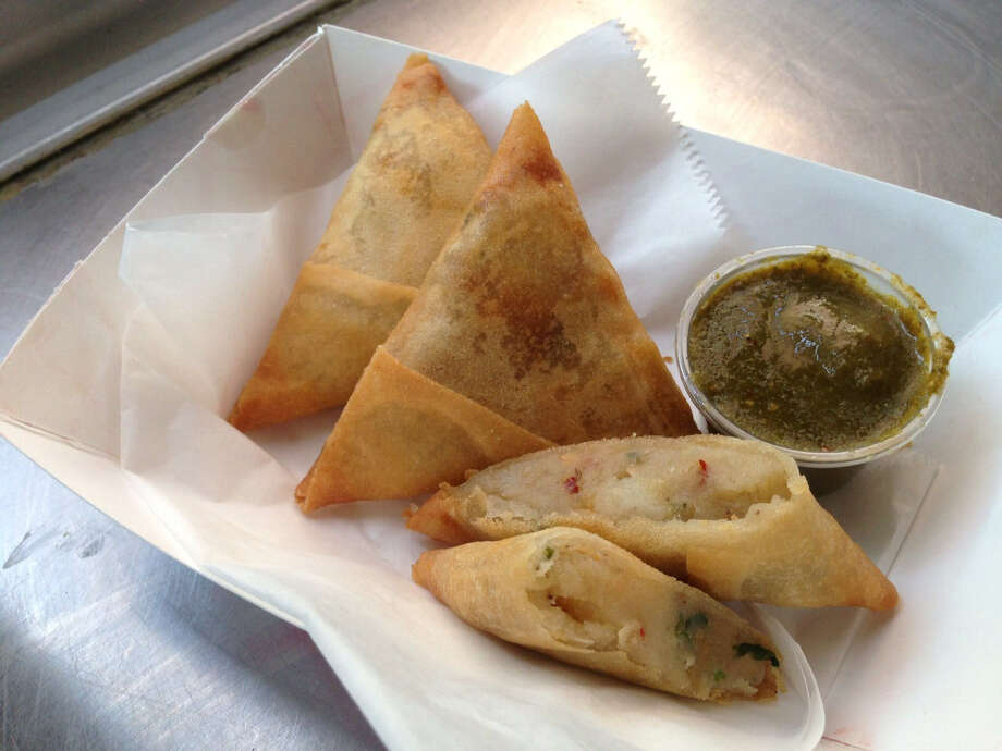 Samosas from Rickshaw Stop. They can be prepared at home, though it will be a project. Photo: Courtesy Photo