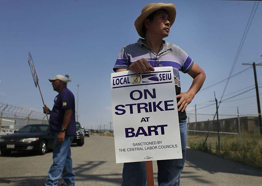 By threatening to strike and ruin the commute for 400,000 BART riders, 