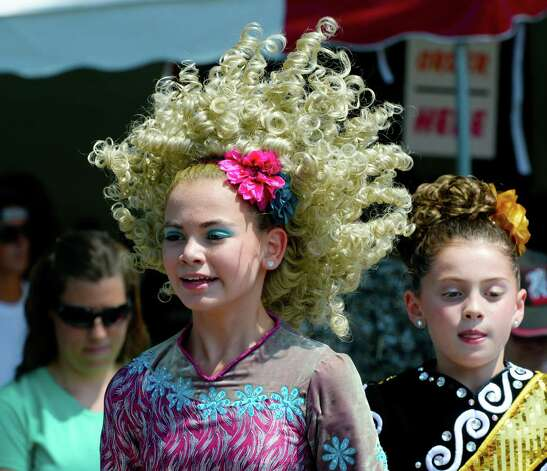 Madeline Insero of the Boland School of Irish Dance performs Thursday afternoon, Aug 8, 2013, during International Day  at Saratoga Race Course in Saratoga Springs, N.Y. (Skip Dickstein/Times Union) Photo: SKIP DICKSTEIN