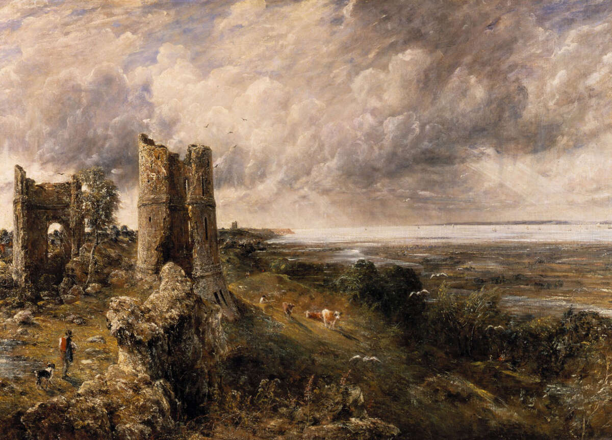 """John Constable's """"Hadleigh Castle, The Mouth of the Thames - Morning after a Stormy Night (detail),"""" 1829, oil on canvas, is in the collection of the Yale Center for British Art, ranked as the 15th greatest art gallery in the world by The Times of London."""