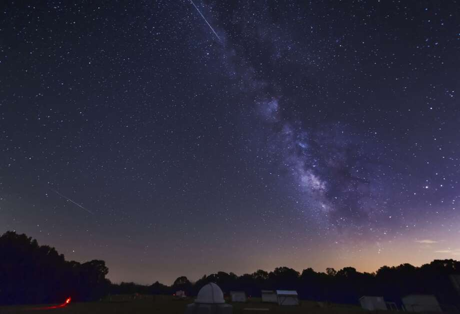 Which way should I be looking?Astronomers recommend that you lie down, with your feet facing northeast. By the way, the Perseids appear to radiate from the constellation Perseus, hence the name. But in reality, the streaks fly in every direction.   (Photo: Perseids in Oklahoma, 2012). Photo: John Davis/Stocktrek Images, Getty Images/Stocktrek Images