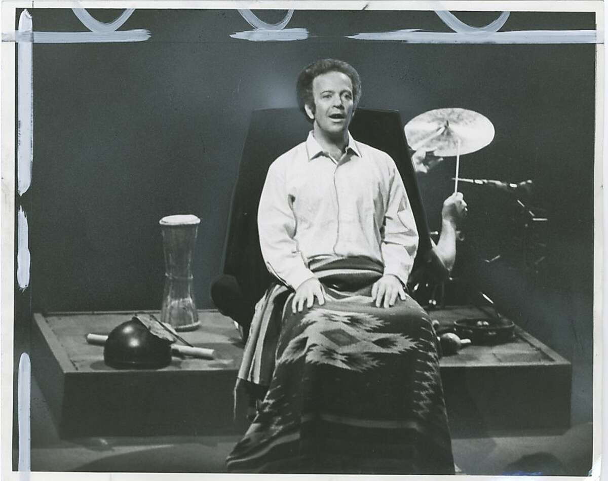 """shepard25 Joseph Chaikin in Sam Shepard's """"Tongues"""" in 1978. That's Shepard's arm at right -- he's playing the drums/cymbal onstage 1978"""