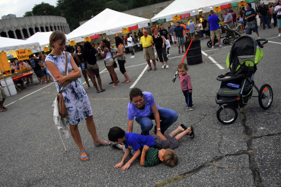 Holy Rosary Parish's Festa 2013, which is the parish's 46th Annual Italian Festival in Ansonia, Conn. on Thursday August 8, 2013. The annual festival opens on Thursday Aug 8 and runs through Saturday August 10 from 5-10 p.m. Photo: Christian Abraham / Connecticut Post