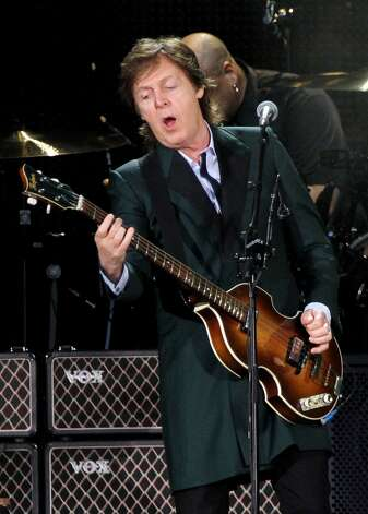 Paul McCartney will be at the Times Union Center on July 5.  Click through the slideshow to see who else is coming to town. Photo: Marc Andrew Deley, Associated Press