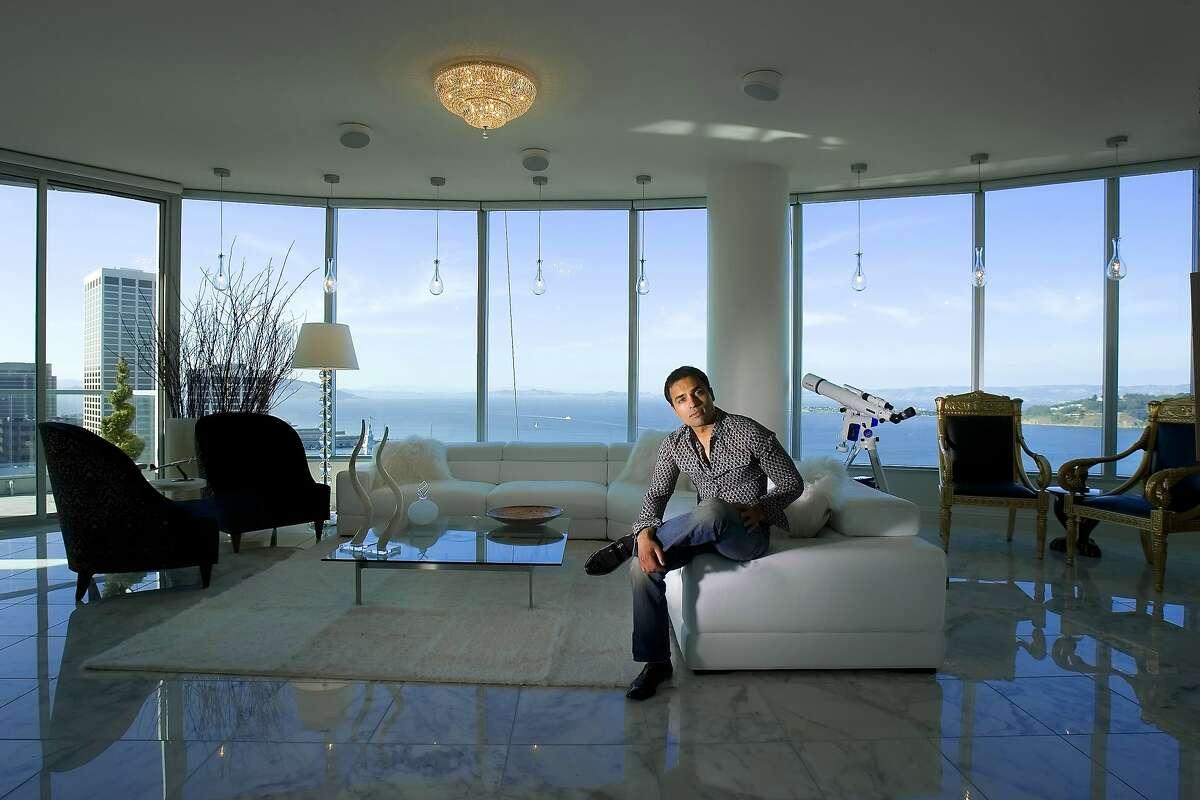 Gurbaksh Chahal , 25 yr-old entrepreneur in his living room of his 37th floor Infinity Luxury Condominium penthouse suit in San Francisco, California, Mar. 25, 2008.