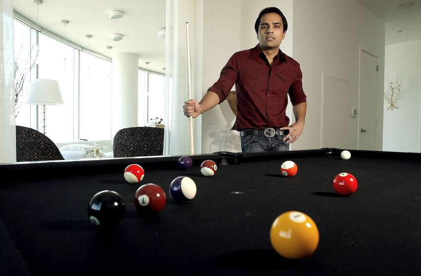 Gurbaksh Chahal in his San Francisco high-rise penthouse in downtown San Francisco, Calif. on Friday Oct. 17, 2008. Chahal is the San Jose internet entrepreneur who made a company as a teenager and sold it to Yahoo for $300 million a few years ago. He has a book coming out on Oct. 23 and will appear on Oprah the same day.