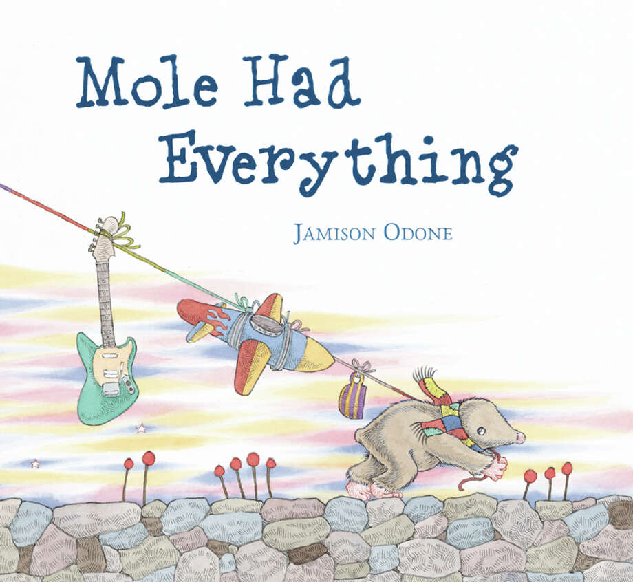 """Author-illustrator Jamison Odone is behind """"Strange Little Books,"""" a new installation at the Mercurial Gallery in Danbury. It includes original illustrations from his newest book, """"Mole Had Everything,"""" and more. Photo: Contributed Photo"""