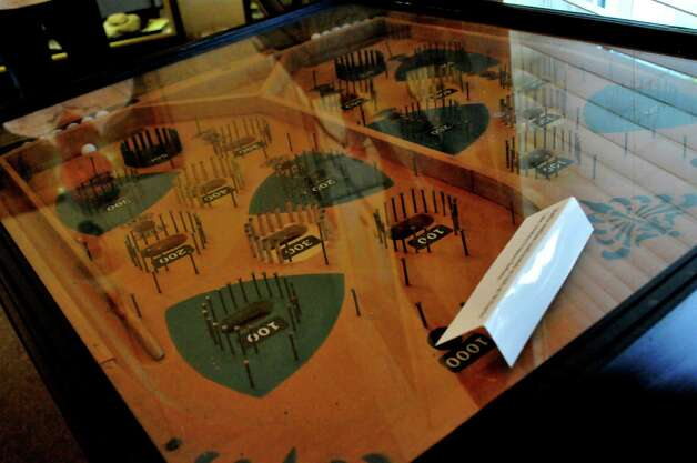 A two-player pinball machine believed to have been seized by law enforcement from a Hardin County club in the 1930s is making its showcase at the