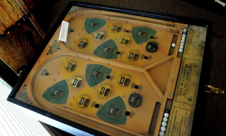 A two-player pinball machine believed to have been seized by law enforcement from a Hardin County club in the 1930s is making its showcase at the newly-opened Museum of Hardin County. Photo: Cassie Smith