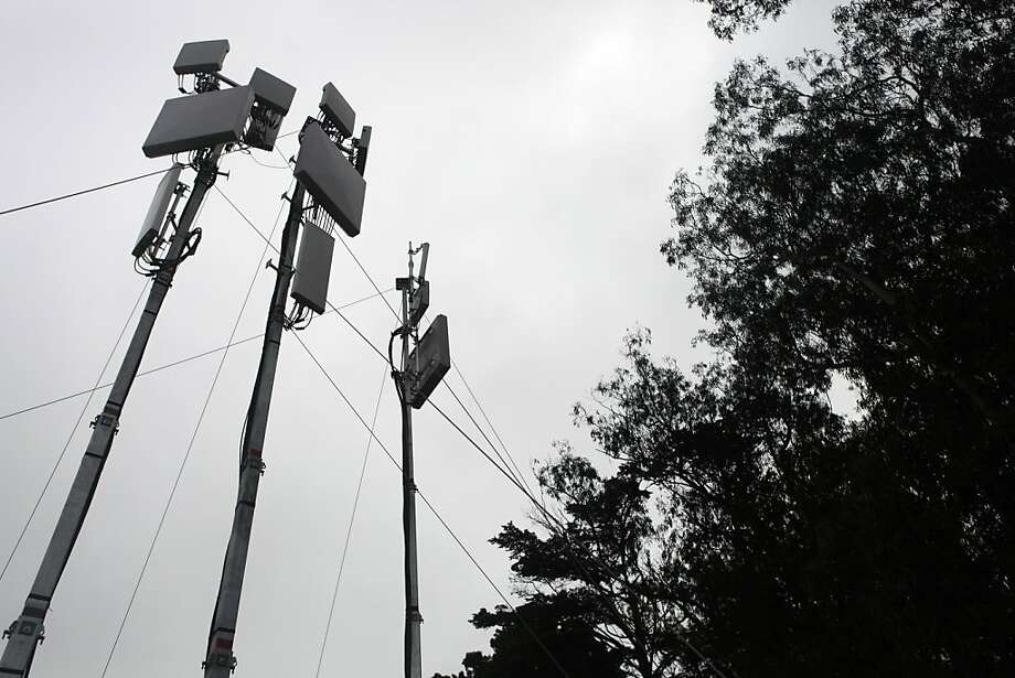 AT&T has set up several cell antennas throughout Golden Gate Park so that everyone at the Outside Lands Festival can easy access cell 4g services in San Francisco, Calif. on Friday, August 9, 2013. Photo: Katie Meek, The Chronicle