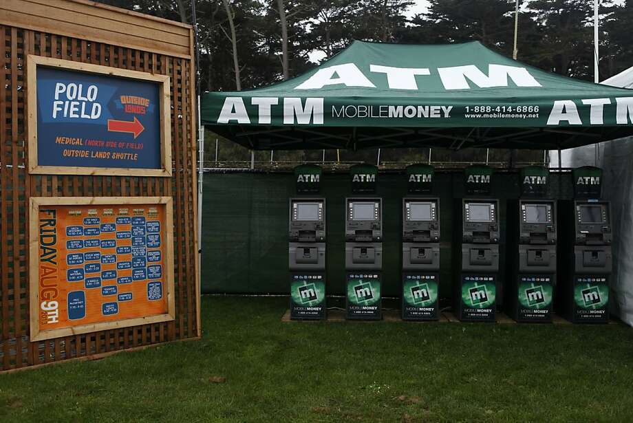 Many ATM machines are set up throughout Golden Gate Park to prepare for the coming guests at the opening day of the Outside Lands Festival at  in San Francisco, Calif. on Friday, August 9, 2013. Photo: Katie Meek, The Chronicle