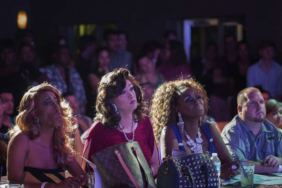 The judging panel listens to a contestant answer a question during a drag competition, Thursday, August 1, 2013 at Club Meteor in Houston, Texas. (PHOTO BY TODD SPOTH) Photo: © TODD SPOTH PHOTOGRAPHY, LLC