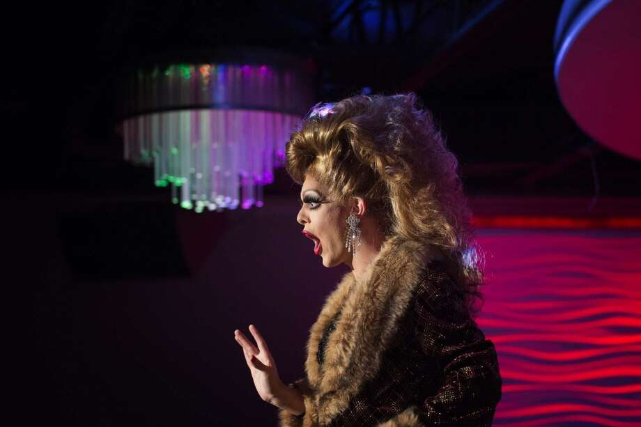 A queen performs during the talent portion during a drag competition, Thursday, August 1, 2013 at Club Meteor in Houston, Texas. (PHOTO BY TODD SPOTH) Photo: © TODD SPOTH PHOTOGRAPHY, LLC