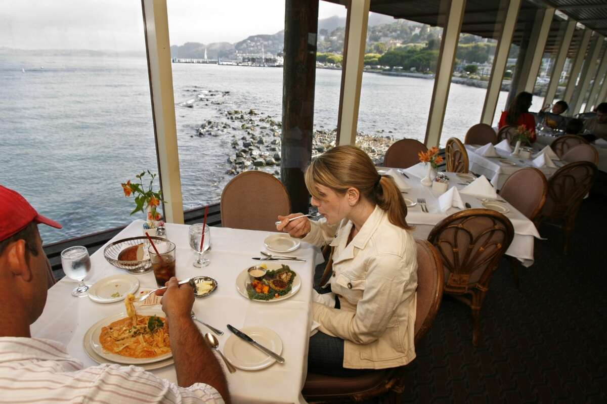 The Spinnaker Restaurant in Sausalito (pictured) made the list, as did A Caprice in Tiburon.