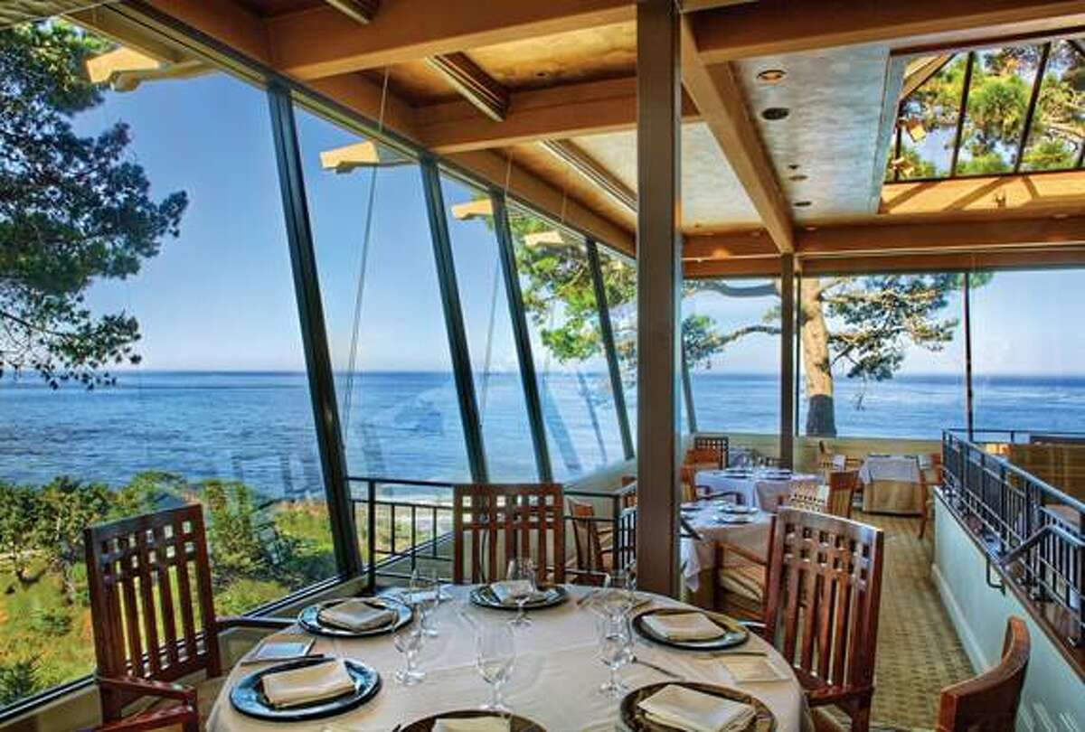 Pacific's Edge in Carmel (pictured) and the Post Ranch Inn's Sierra Mar are the only Big Sur/Monterey area restaurants on the Open Table list.
