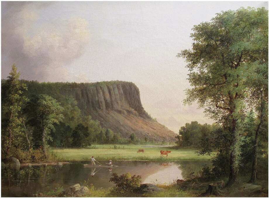 "Some of America's greatest painters of the 19th and early 20th centuries captured New Haven's East Rock and West Rock in their paintings, as a new book by Jelle Zeilinga de Boer and John Wareham explores. Above is ""East Rock, New Haven,"" 1857, from the New Haven Museum & Historical Society. Photo: Contributed Photo"