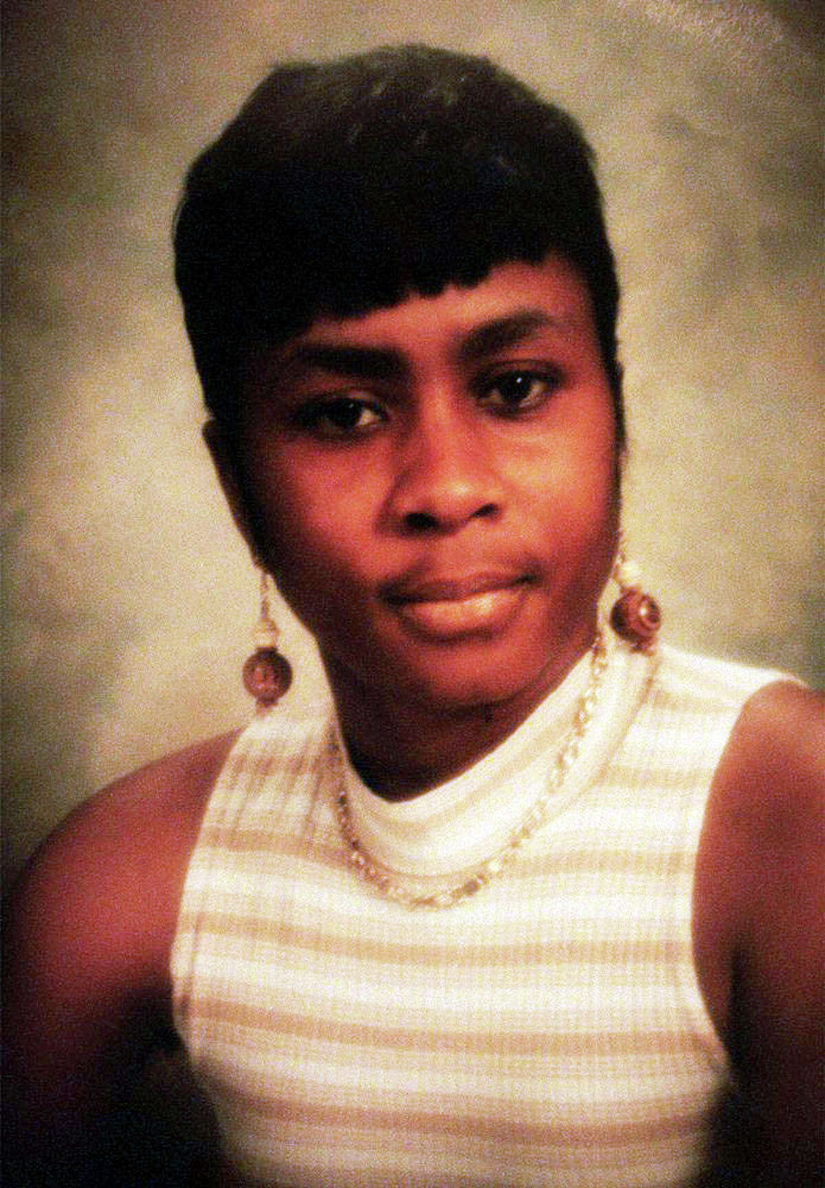 """Karen Clarke, who was shot and killed along with her eight year old son, Leroy """"B.J."""" Brown, in their Bridgeport, Conn. duplex on January 8, 1999."""
