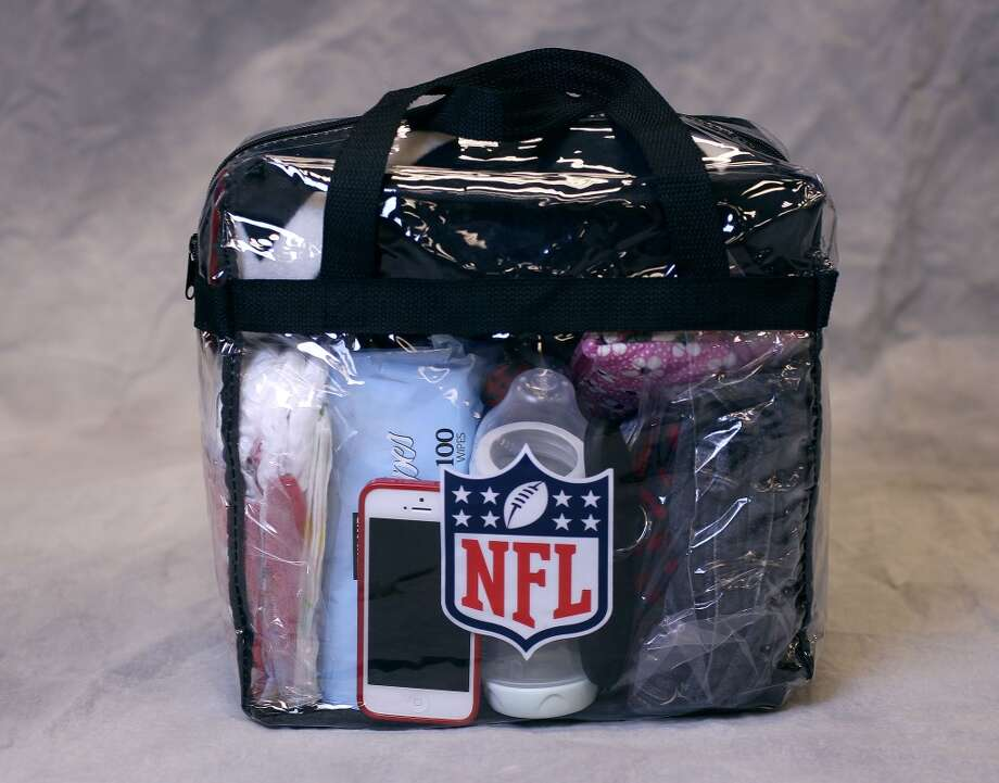 A NFL approved bag with items a mother or father with children might bring to a game. Photo: ( Karen Warren / Houston Chronicle )