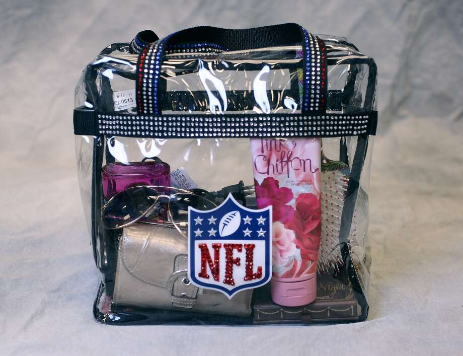 The NFL-approved bag filled with items a female fan might bring to a game. Photo: ( Karen Warren / Houston Chronicle )