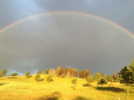I rented a house near Boulder Colorado in July.  This rainbow greeted us the first morning we were there.