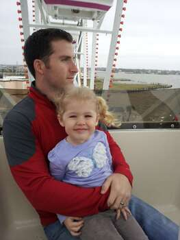 Overlooking Galveston Bay on the Kemah Boardwalk Ferris Wheel.
