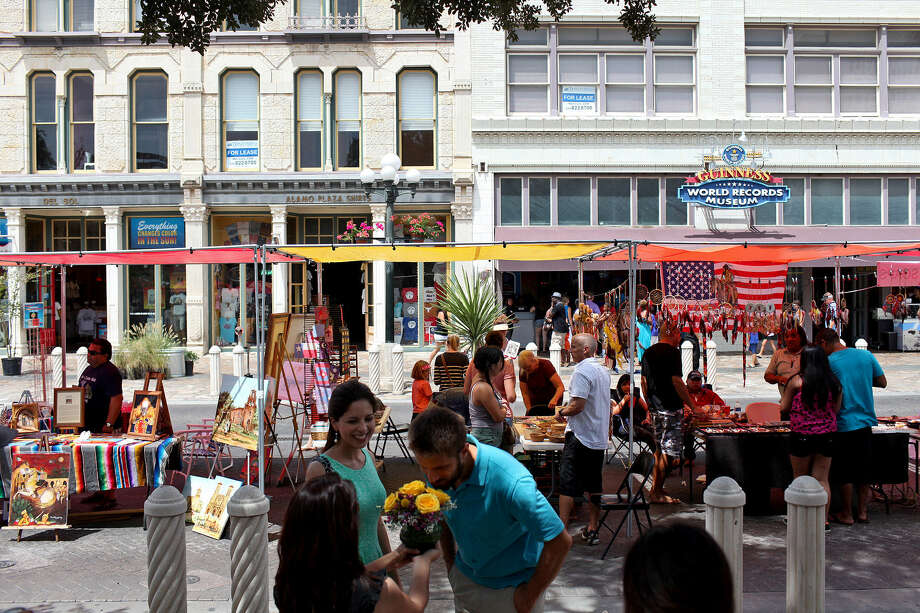 Events such as the 2012 Alamo Plaza Better Block event provided vendors an opportunity to showcase arts, crafts and food. Photo: Lisa Krantz / San Antonio Express-News