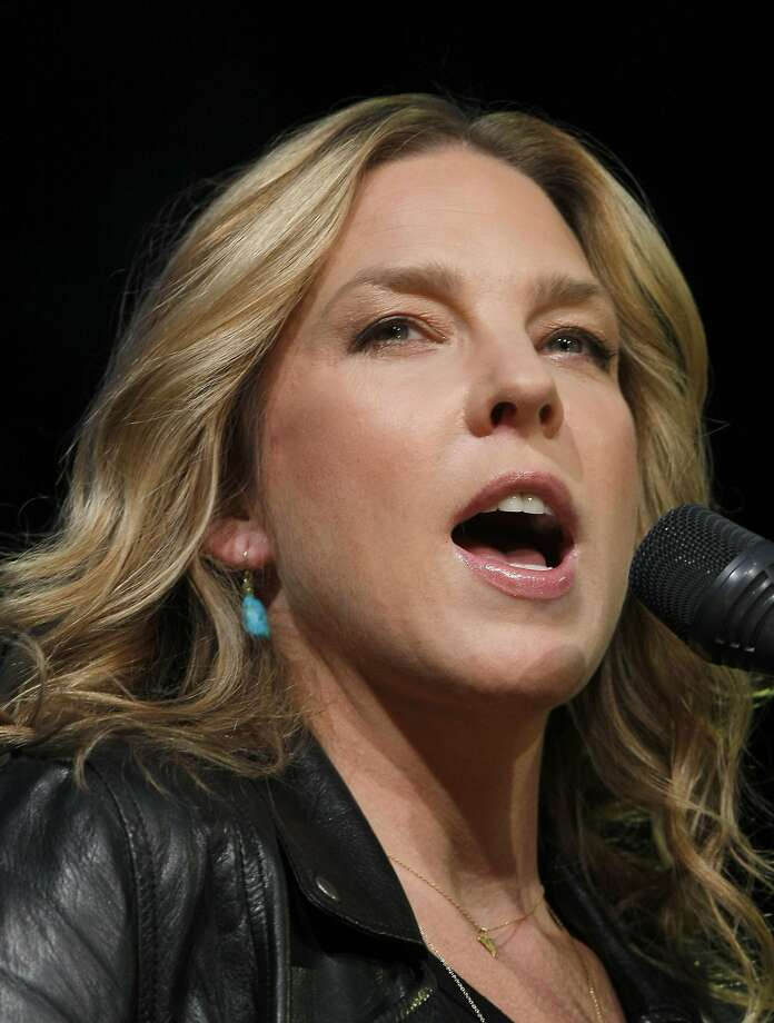 Canadian jazz pianist and singer Diana Krall performs at the Jazz Festival of 5 Continents, in Marseille, southern France, Sunday, July 21, 2013. (AP Photo/Claude Paris) Photo: Claude Paris, Associated Press