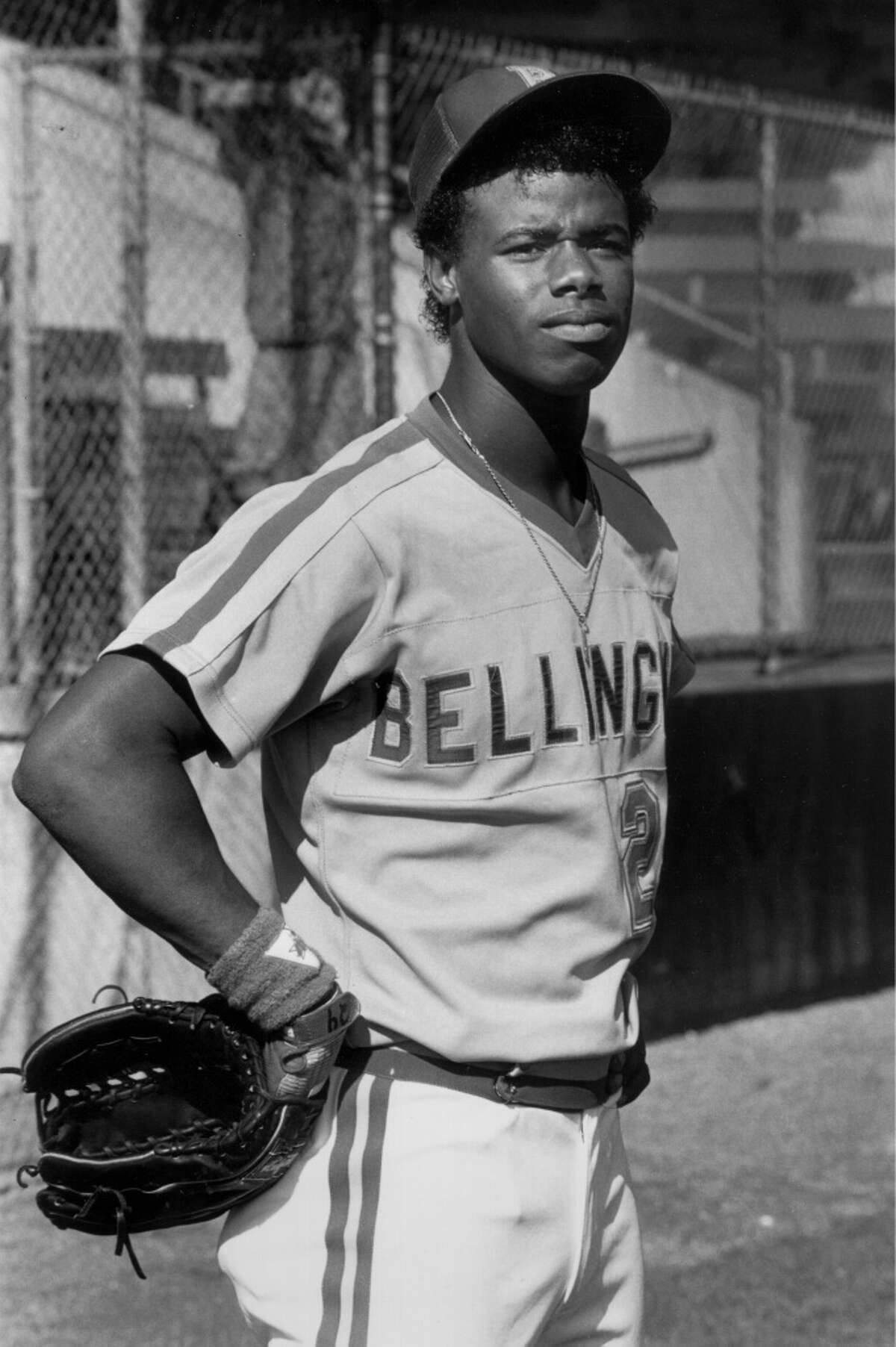 The Mariners selected Griffey first-overall in the 1987 MLB Draft. Here he is that year playing for the Single-A Bellingham Mariners.