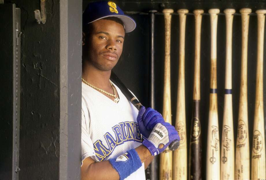 One of the many portraits of Griffey as he rose to fame, this one from 1990.  Photo: Focus On Sport, Getty Images