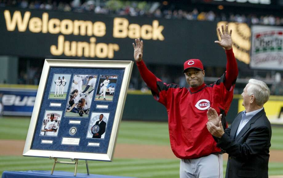 On June 22, 2007, Junior returned to Safeco Field -- ''The House that Griffey Built'' -- for the first time since leaving for the Reds in 2000. He got a warm welcome from the Seattle crowd.  Photo: Scott Eklund, Seattle P-I Archives