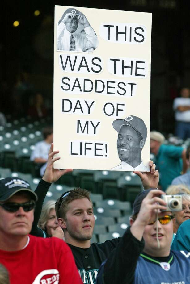 ''He was my hero growing up. It was hard to see him go,'' Mariners fan Loren Shane (pictured holding sign) told the Seattle Post-Intelligencer on June 22, 2007, when Griffey returned for the first time to Safeco Field.