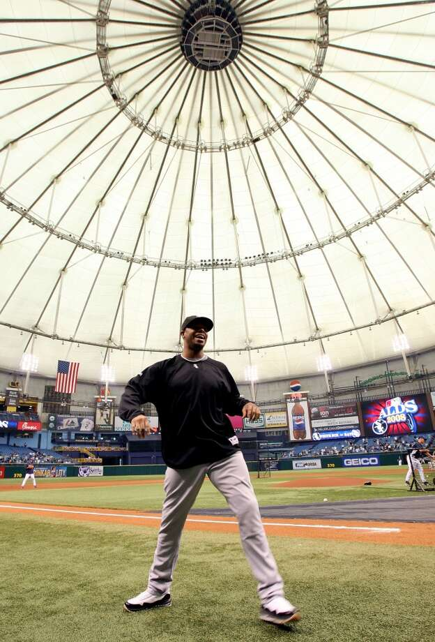 Griffey stretches before Game 1 of the ALDS against the Tampa Bay Rays on Oct. 2, 2008, at Tropicana Field in St. Petersburg, Fla. The White Sox didn't advance any further into the postseason.