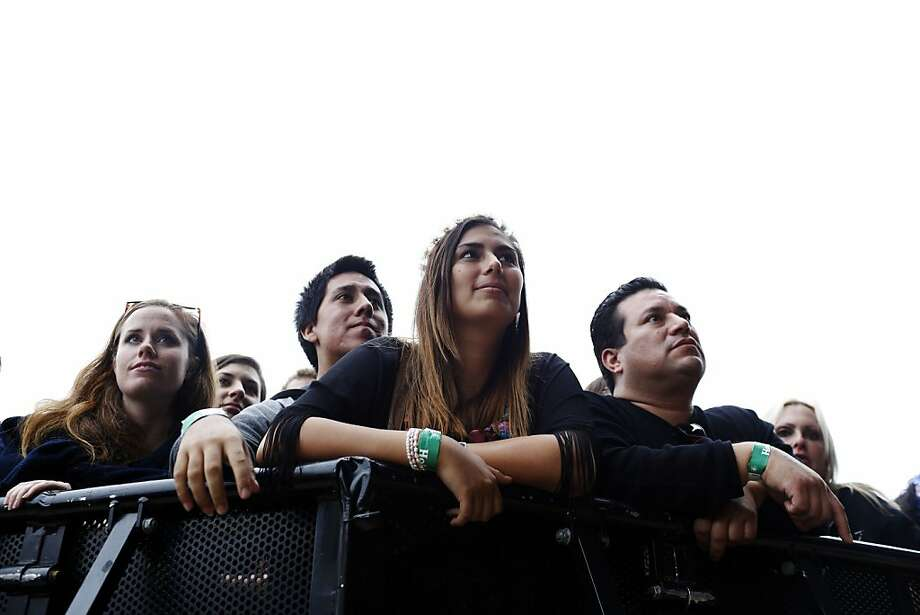 Fans watch as The National plays on the Lands End Stage during the first day of the Outside Lands music festival in Golden Gate Park in San Francisco, Calif. on August 9, 2013. Photo: Ian C. Bates, The Chronicle