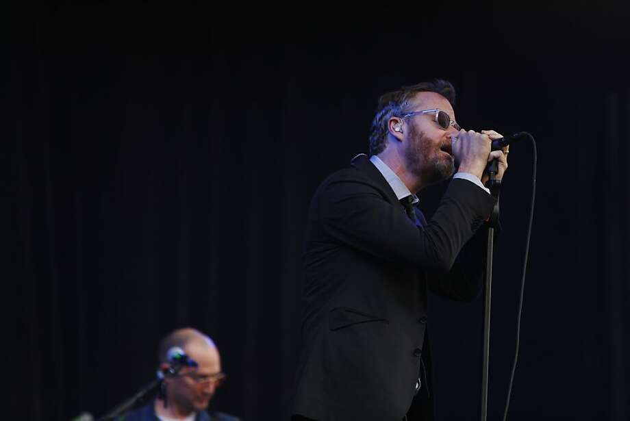 The lead singer of The National Matt Berninger sings on the Lands End stage during the first day of the Outside Lands music festival in Golden Gate Park in San Francisco, Calif. on August 9, 2013. Photo: Ian C. Bates, The Chronicle