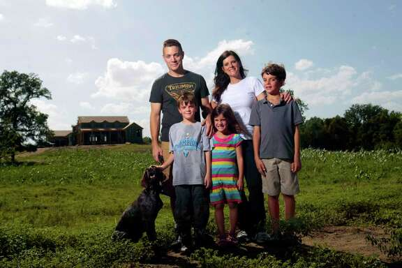 Dara and Laura Childs and their children, 8-year-old Milo, 6-year-old Gillian and 9-year-old Noah, are building a house in Washington County.  They family plan to have chickens, goats, fruit trees, a vegetable garden and fish ponds.