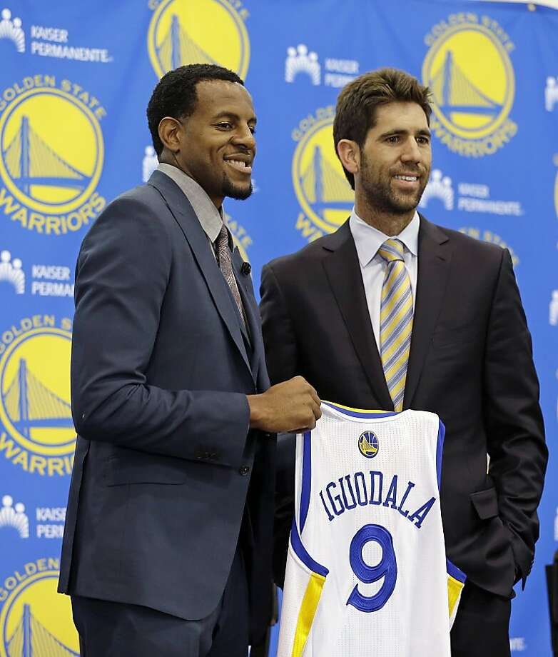 Warriors GM Bob Myers says the Andre Iguodala deal was difficult to put together. Photo: Eric Risberg, Associated Press