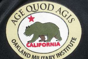 """Age Quod Agis means """"Do well whatever you do"""" and is the pledge of every cadet at Oakland Military Institute  Photo Tom Stienstra/The Chronicle"""