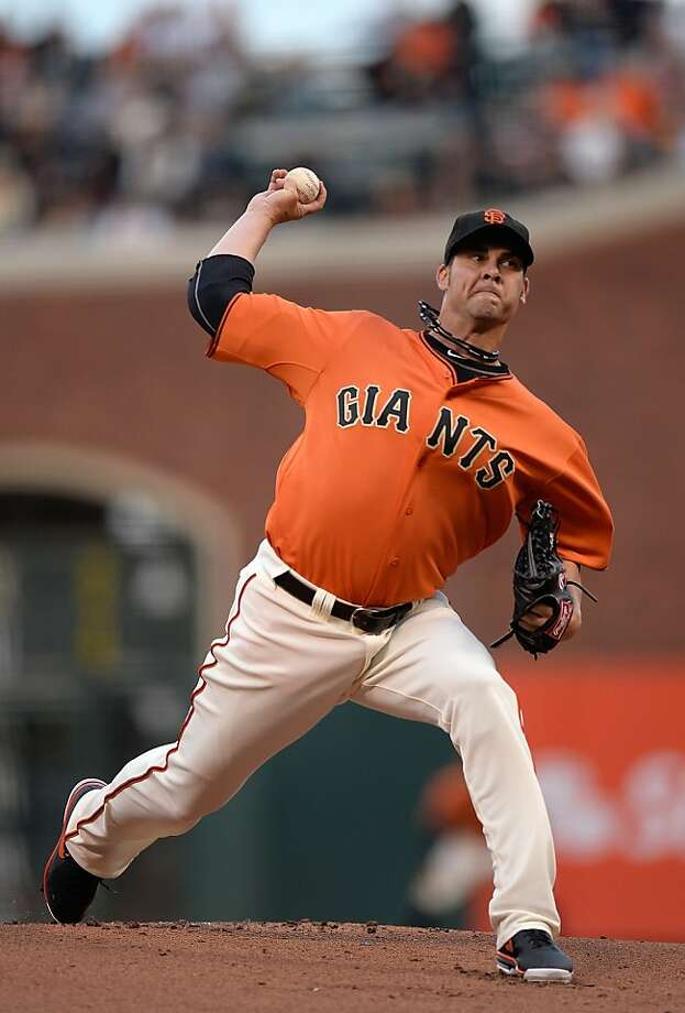 Ryan Vogelsong threw 103 pitches and held the Orioles to two runs over six innings. Photo: Thearon W. Henderson, Getty Images