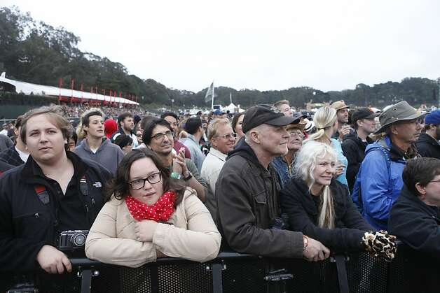 Fans watch as Paul McCartney performs at the Outside Lands Festival. Photo: Katie Meek, The Chronicle