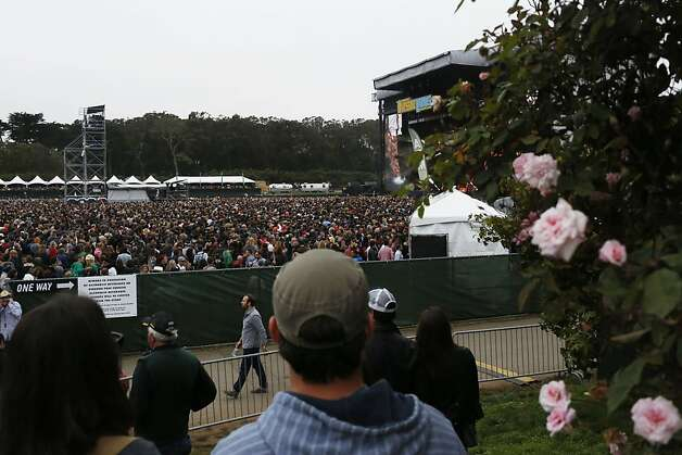 Thousands of people gather for Paul McCartney's performance during the first day of the Outside Lands music festival in Golden Gate Park. Photo: Ian C. Bates, The Chronicle