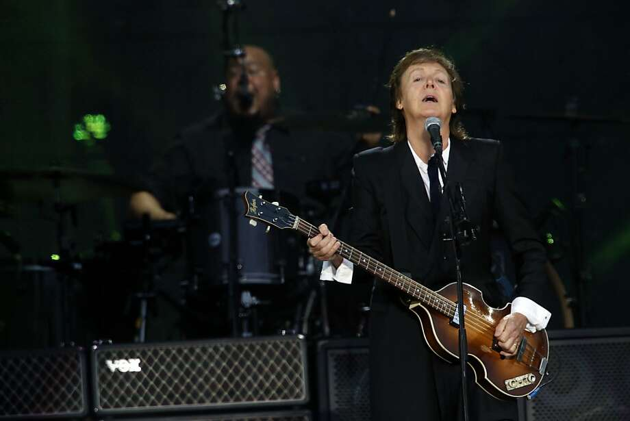 Paul McCartney sings on the Lands End stage. Photo: Ian C. Bates, The Chronicle