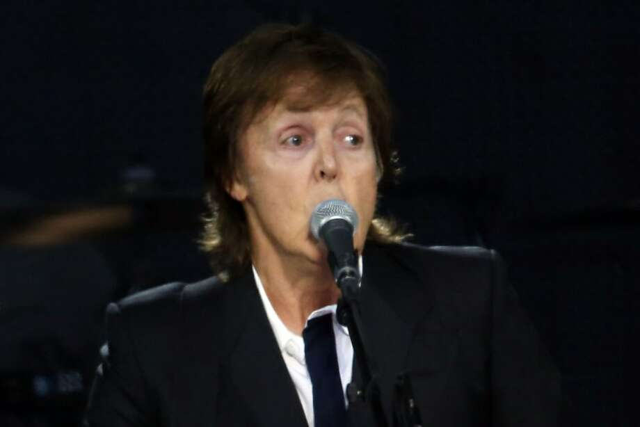 Paul McCartney sings on the Lands End stage during the first day of the Outside Lands music festival in Golden Gate Park on Friday. Photo: Ian C. Bates, The Chronicle