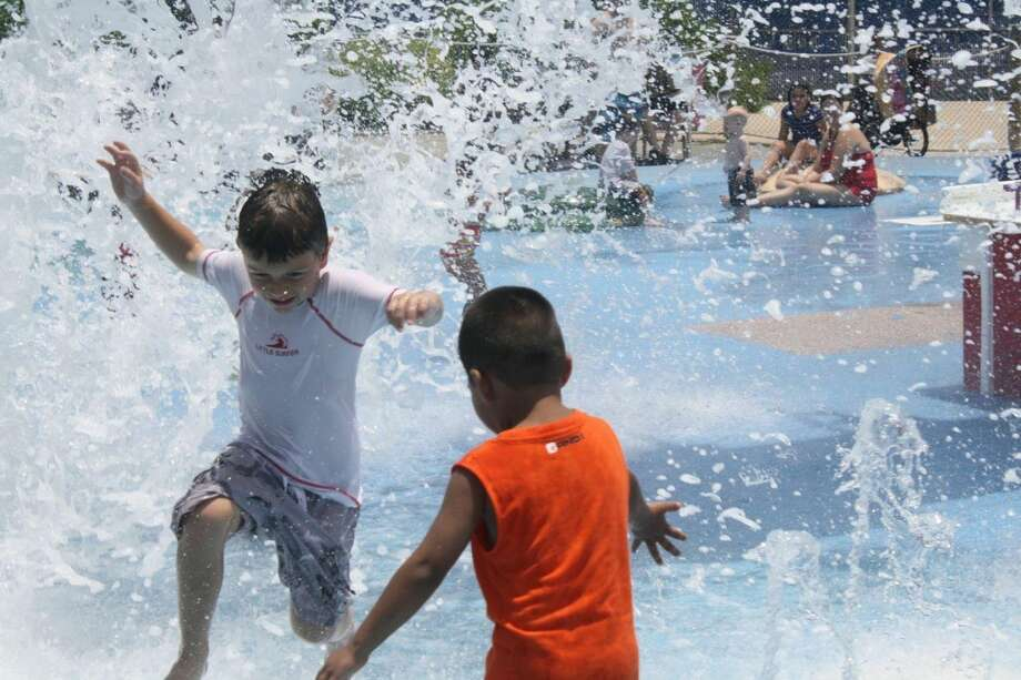 The H-E-B Splash Park at the Texas State Aquarium is the perfect place for younger kids to cool off. Photo: By Jennifer Roolf Laster, For The Express-News