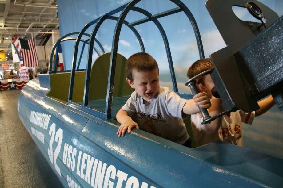 You could spend hours touring the USS Lexington and not learn the wealth of historical information on display. But the kids may be too busy pretending to fly a fighter jet to notice what they missed. Photo: By Jennifer Roolf Laster, For The Express-News