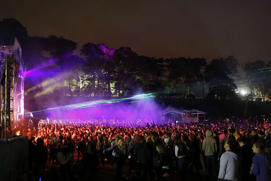 Thousands of people dance as Pretty Lights plays a show during the first day of the Outside Lands music festival. Photo: Ian C. Bates, The Chronicle