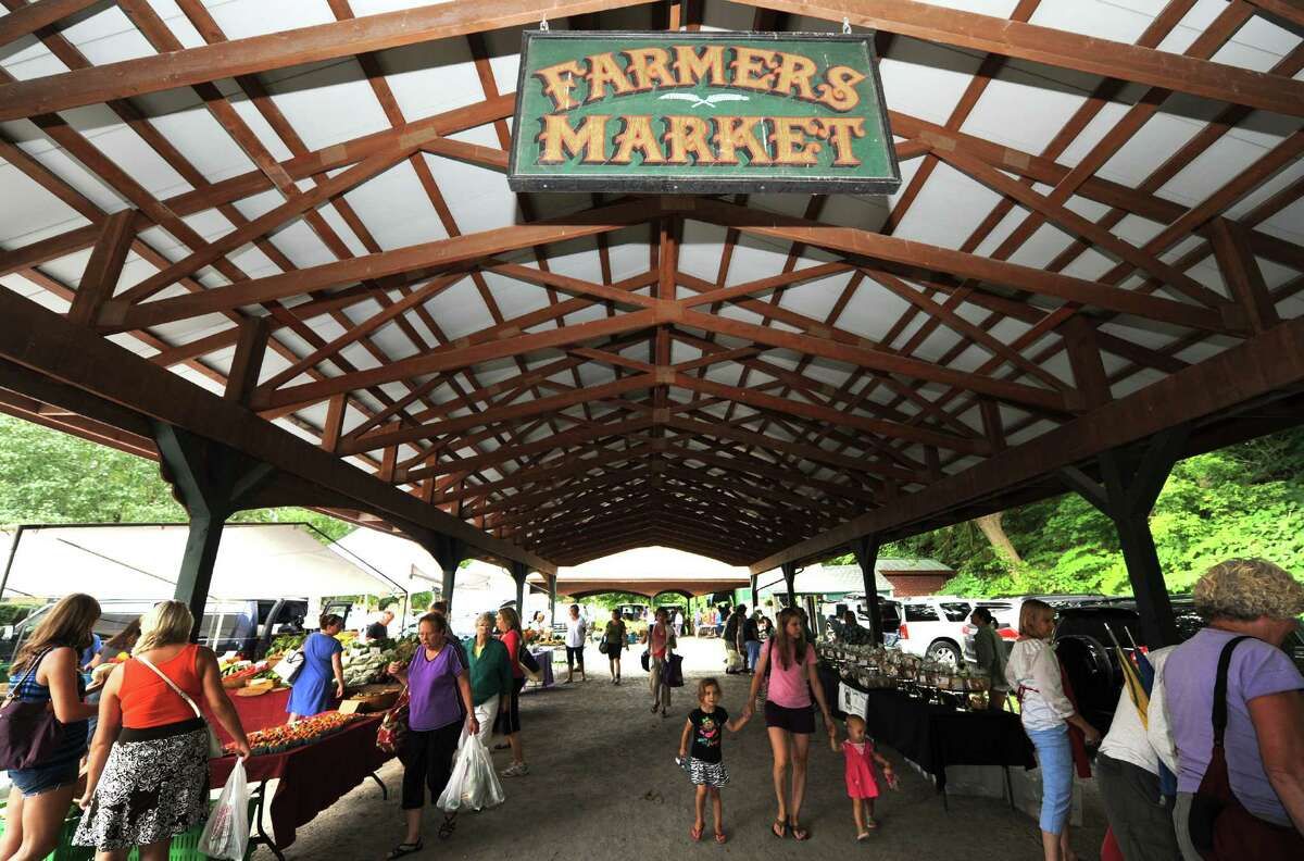 Saratoga Summer Farmers' Market on Wednesday Aug. 7, 2013 in Saratoga Springs, N.Y. (Michael P. Farrell/Times Union)