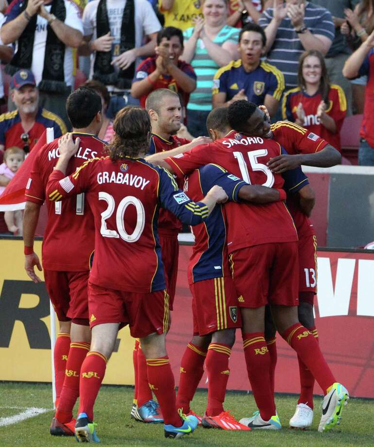 Real Salt Lake advanced to the Western Conference final with a 2-0 victory over the Los Angeles Galaxy on Thursday night. Photo: Rick Bowmer, Associated Press / AP