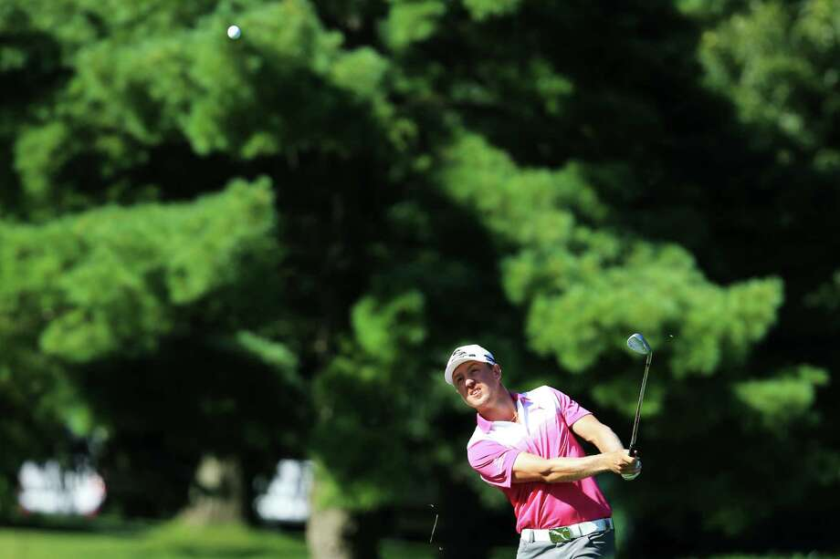 ROCHESTER, NY - AUGUST 10:  Jonas Blixt of Sweden hits his third shot on the 16th hole during the third round of the 95th PGA Championship on August 10, 2013 in Rochester, New York. Photo: David Cannon, Getty Images / 2013 Getty Images
